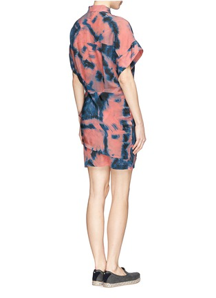 Back View - Click To Enlarge - IRO - Tie dye side ruche shirt dress