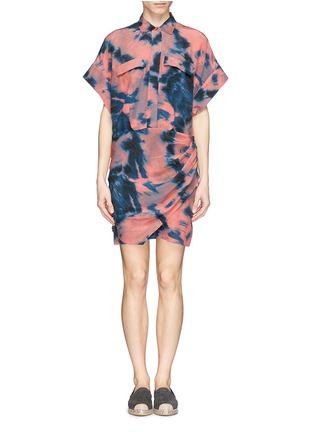 Main View - Click To Enlarge - IRO - Tie dye side ruche shirt dress