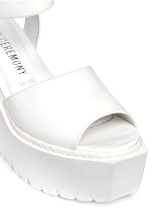 Detail View - Click To Enlarge - Opening Ceremony - 'Grunge' gloss leather platform wedge sandals