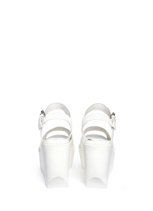 Back View - Click To Enlarge - Opening Ceremony - 'Grunge' gloss leather platform wedge sandals
