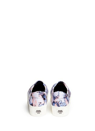 Back View - Click To Enlarge - Opening Ceremony - Tropical leaf print flatform slip-ons