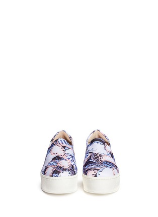 Figure View - Click To Enlarge - Opening Ceremony - Tropical leaf print flatform slip-ons