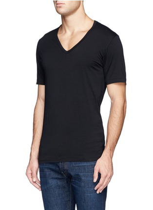 Front View - Click To Enlarge - Zimmerli - '172 Pure Comfort' jersey undershirt
