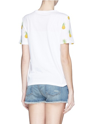Back View - Click To Enlarge - Tory Burch - 'Cathy' pineapple print T-shirt