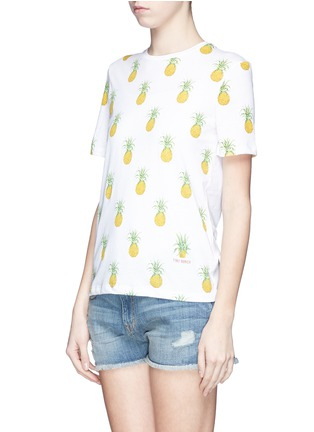 Front View - Click To Enlarge - Tory Burch - 'Cathy' pineapple print T-shirt