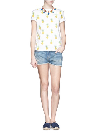 Figure View - Click To Enlarge - Tory Burch - 'Cathy' pineapple print T-shirt
