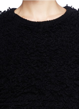 Detail View - Click To Enlarge - Helmut Lang - Chunky bouclé knit cropped pullover