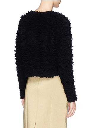 Back View - Click To Enlarge - Helmut Lang - Chunky bouclé knit cropped pullover
