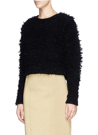 Front View - Click To Enlarge - Helmut Lang - Chunky bouclé knit cropped pullover