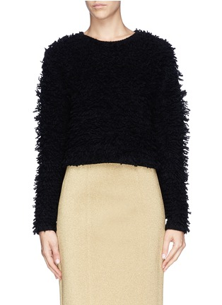 Main View - Click To Enlarge - Helmut Lang - Chunky bouclé knit cropped pullover