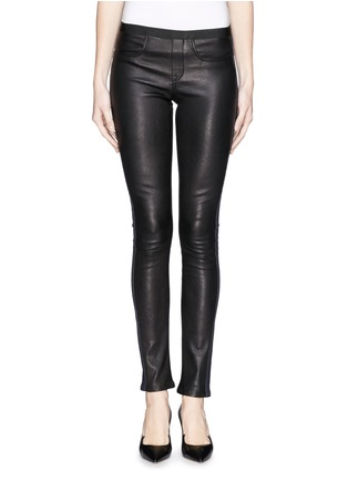 Main View - Click To Enlarge - Helmut Lang - Leather denim combo leggings