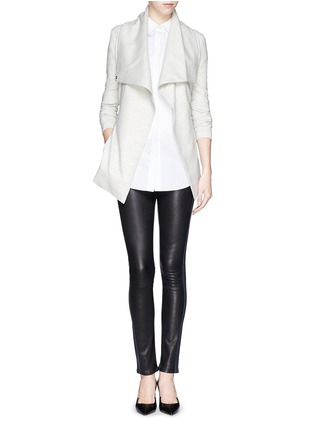 Figure View - Click To Enlarge - Helmut Lang - Leather denim combo leggings