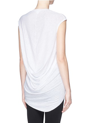 Back View - Click To Enlarge - Helmut Lang - Drape back burnout jersey T-shirt