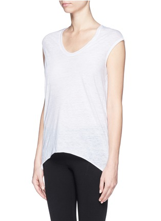 Front View - Click To Enlarge - Helmut Lang - Drape back burnout jersey T-shirt