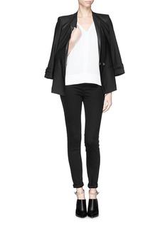 HELMUT LANGJersey back crepe blouse