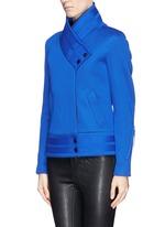 'Crossover blouson' scuba jersey jacket