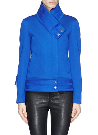 Main View - Click To Enlarge - Helmut Lang - 'Crossover blouson' scuba jersey jacket