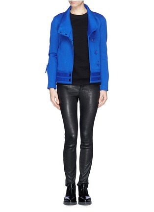 Figure View - Click To Enlarge - Helmut Lang - 'Crossover blouson' scuba jersey jacket