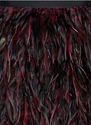 Detail View - Click To Enlarge - alice + olivia - 'Cina' feather skirt