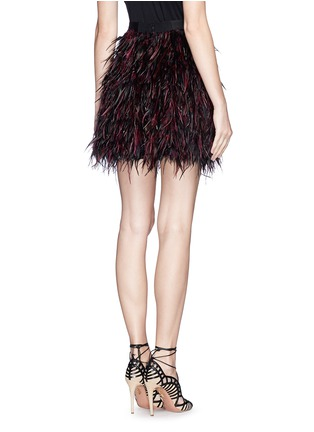 Back View - Click To Enlarge - alice + olivia - 'Cina' feather skirt