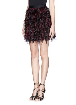 Front View - Click To Enlarge - alice + olivia - 'Cina' feather skirt