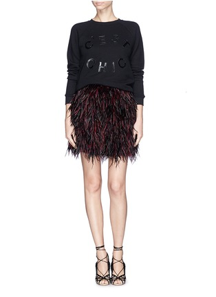 Figure View - Click To Enlarge - alice + olivia - 'Cina' feather skirt