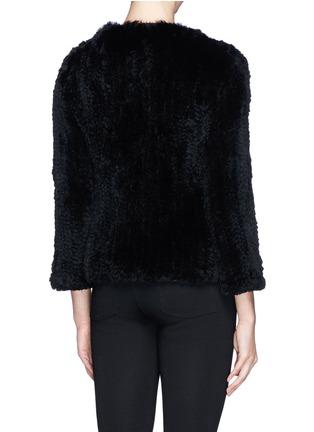 Back View - Click To Enlarge - alice + olivia - 'Duncan' leather placket fur jacket
