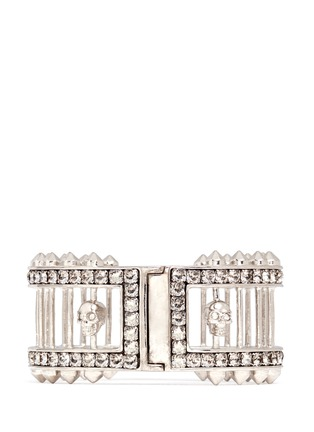 Main View - Click To Enlarge - Alexander McQueen - Crystal bar skull bangle