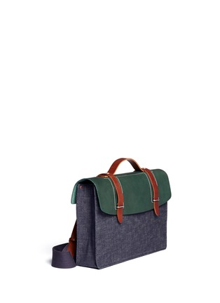 Detail View - Click To Enlarge - SEVENTY EIGHT PERCENT - Dimitri medium leather denim satchel
