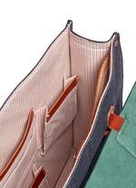 Dimitri medium leather denim satchel