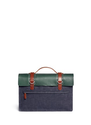 Back View - Click To Enlarge - SEVENTY EIGHT PERCENT - Dimitri medium leather denim satchel