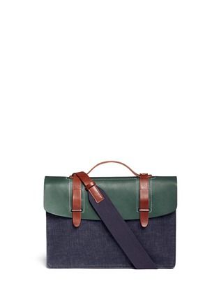 Main View - Click To Enlarge - SEVENTY EIGHT PERCENT - Dimitri medium leather denim satchel