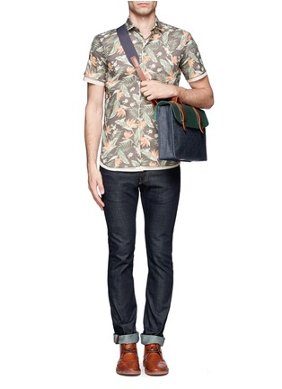 Figure View - Click To Enlarge - SEVENTY EIGHT PERCENT - Dimitri medium leather denim satchel