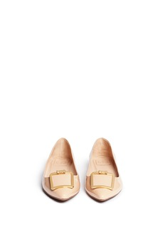 TORY BURCH'Grayson' buckle patent leather flats