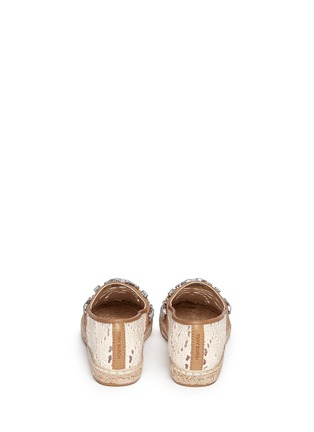 Back View - Click To Enlarge - Tory Burch - 'Ginerva' jewelled crochet espadrilles