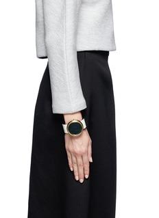 TOGA ARCHIVESRound locket leather bangle