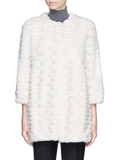 YVES SALOMONBanded rabbit fur coat