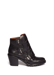 MARC BY MARC JACOBSQuilted triple monk strap ankle boots