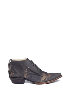 FREEBIRD 'Esquina' splatter lace-up booties