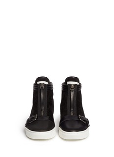 MARC BY MARC JACOBSSuede leather zip sneakers
