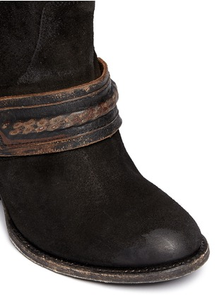 Detail View - Click To Enlarge - FREEBIRD - 'El Paso' ankle harness suede boots