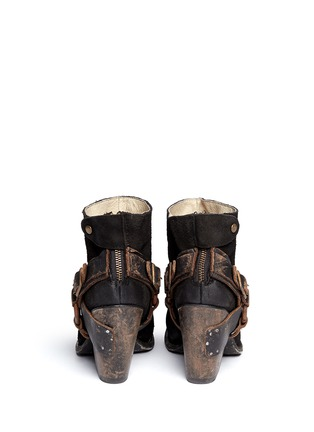 Back View - Click To Enlarge - FREEBIRD - 'El Paso' ankle harness suede boots