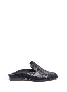 Robert Clergerie'Alice' croc embossed leather mules