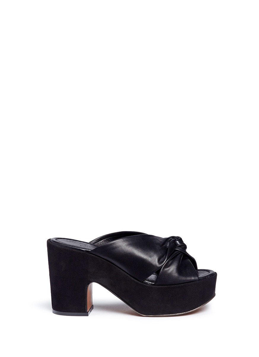 Esther suede platform knotted leather sandals by Robert Clergerie