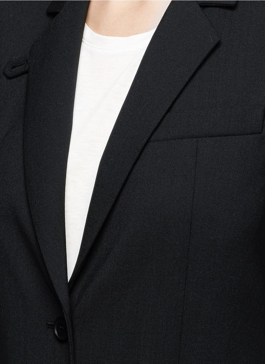THEORY 'Wylla' Button Lapel Virgin Wool Blazer
