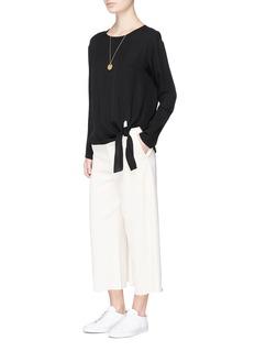 Theory'Serah' tie waist silk georgette top