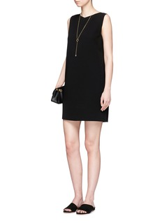 Theory 'Narlica' button crossover back crepe dress