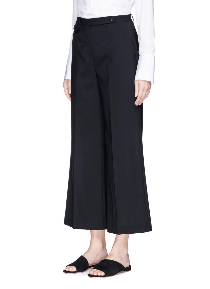 THEORY 'Nadeema' Virgin Wool Wide Leg Pants