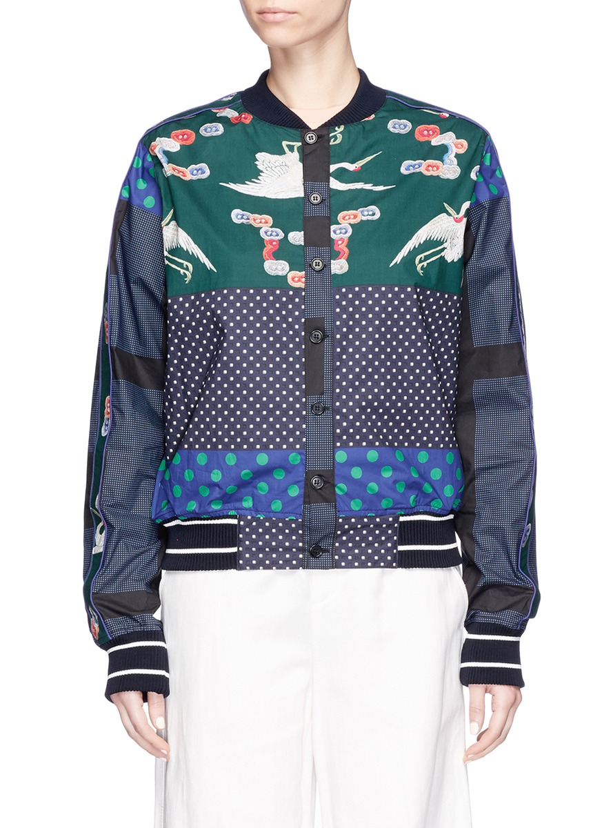 Diomepape/SX mixed print bomber jacket by Pierre-Louis Mascia