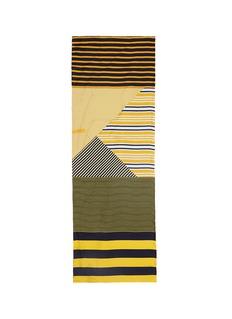 Pierre-Louis MasciaStripe silk twill scarf